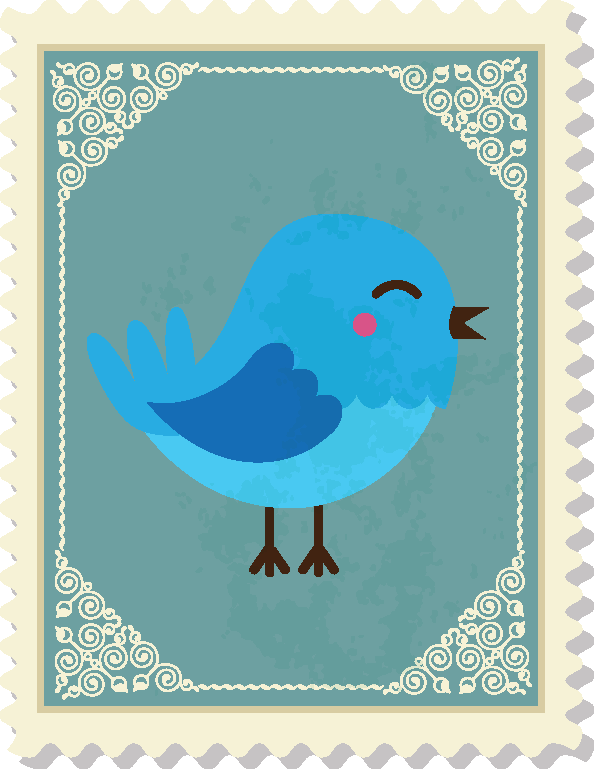 an image of a bluebird on a postage stamp